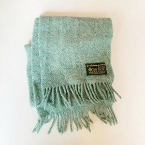 James Johnston of Scotland Teal New Wool Scarf
